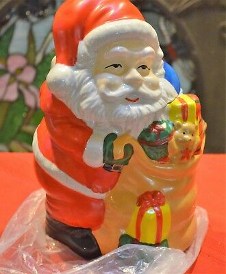 Santa Claus Cookie Jar 10 Inch Porcelain Gibson Housewares, New In The Box!