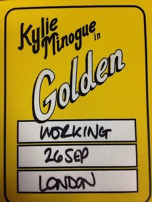 Kylie Minogue Used Backstage Pass