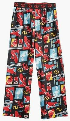 New INCREDIBLES 2 Pajamas Pants Boys M 6/8 Lg 10/12 DISNEY PIXAR Lounge Bottoms