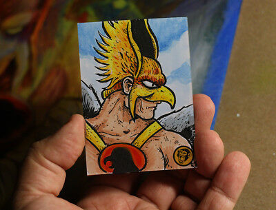 Hawkman DC Comics Original Art Sketch Card 1/1 JLA Robert Jimenez
