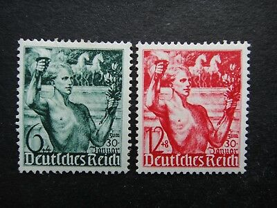 Germany Nazi 1938 Stamps MINT Third Reich Youth Carrying Torch Deutschland Germa