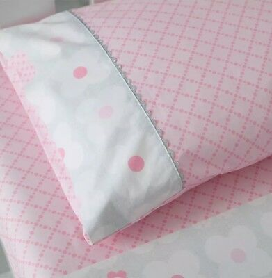 Living Textiles Adele 3 Piece Cot Sheet Set In 100% Cotton. Brand New.