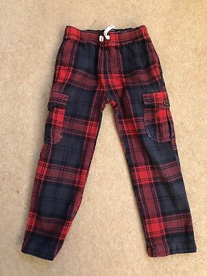 Boys Mini boden trousers age 5 Years, Red Check, Great Condition