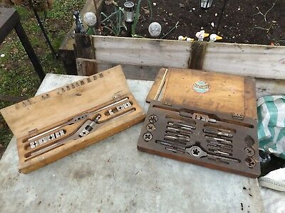 old vintage taps and dies in box qty 2