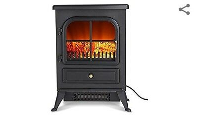 Finether 1800w Freestanding Fireplace Modern Electric Fires Stove Heater With