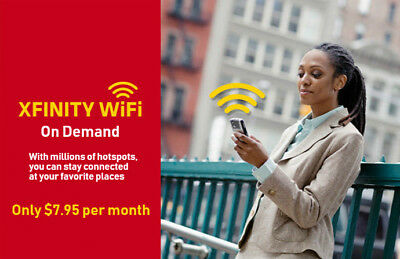 Xfinity WiFi Hotspot Internet Access for 1 Month Renew Monthly
