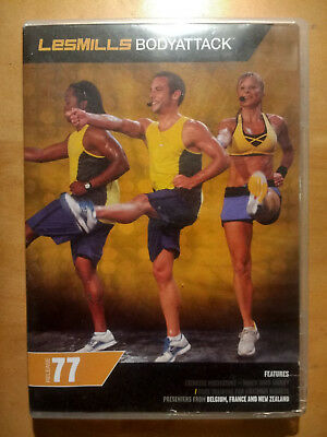 LesMills BODYATTACK release 77 - DVD, CD & Choreography Notes - FREE Shipping