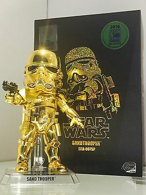 Beast kingdom Star Wars Gold Sandtrooper Figure SDCC 2016 exclusive Egg Attack