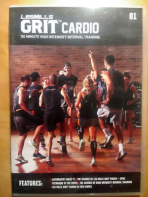 LesMills GRIT CARDIO release 01 - DVD, CD & Choreography Notes - FREE Shipping