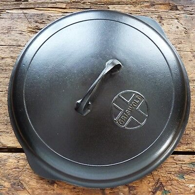 Vtg GRISWOLD # 9 Cast Iron SKILLET LID Frying Pan Button Logo COVER -  Ironspoon