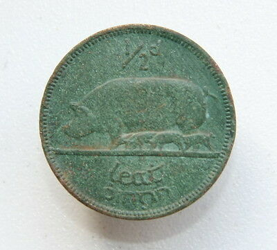 1940 Ireland 1-2 Penny Halfpenny Collectable Coin