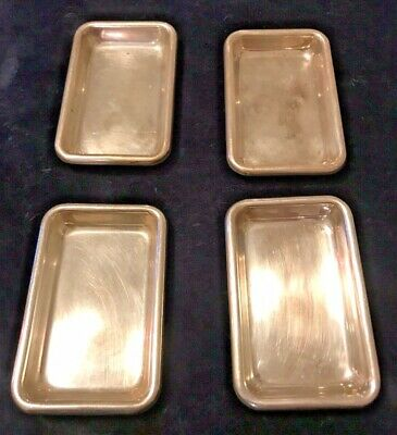 Antique Designer Sterling Silver Trays Or Dishes By Poole