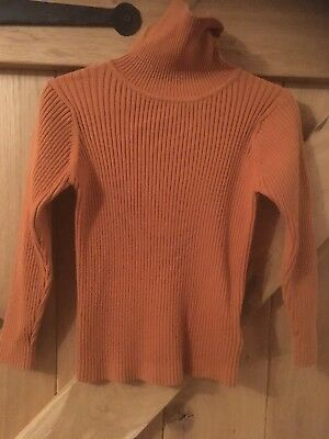 Next Girls Ribbed Polo Neck Jumper, Age 3-4 Years