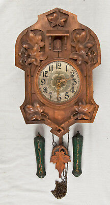 Rare Art Nouveau style Black Forest German cuckoo clock @ 1890 Original Rare!