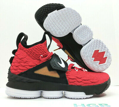 new styles 0062c 2d2c3 NIKE LEBRON 15 XV Prime Diamond Turf Deon Sanders Red AO9144-600 Authentic