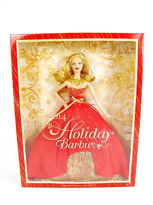 2014 Mattel Holiday Christmas Blonde Barbie Doll Collector