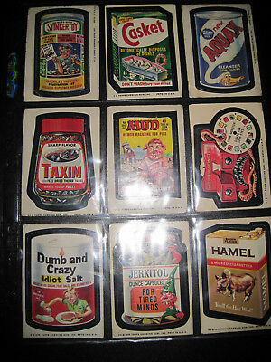 (12) Topps Chewing Gum Vintage Wacky Packages