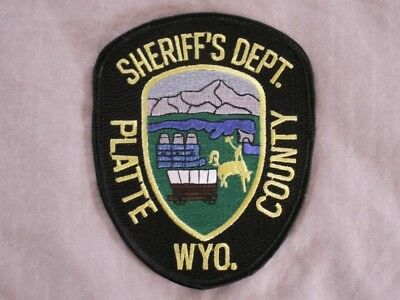 Law Enforcement Patch--Platte County Wyoming Sheriff's Dept--New*