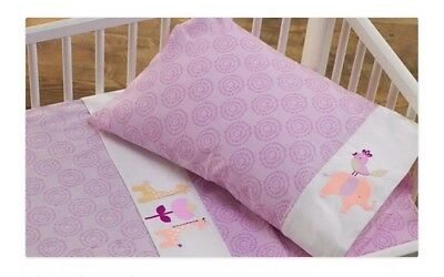 Lollie Living Surina 3 Pce Cot Sheet Set In Gift Box. 100% Cotton. Brand New.