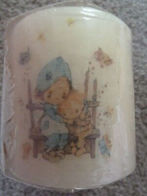 Vintage Betsey Clark Hallmark Pillar Candle 3x3 inches Children & Birds