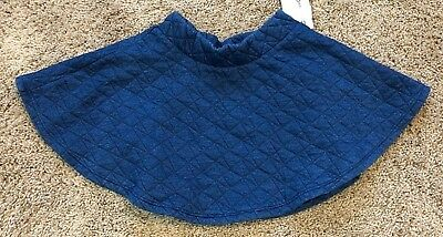 NWT Girls Indigo Blue Quilted Skirt 5T