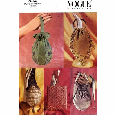 Vogue Accessories Pattern 7252 LINED EVENING BAGS WITH HAND BEADING One Size
