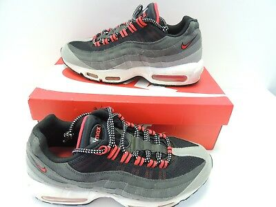 various colors 0d34e 1e168 Nike Mens Air Max 95 Wolf Gray Chilling Red Running Shoes 609048-066 Size  9.5