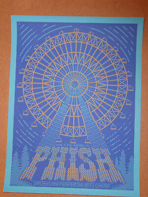 PHISH Poster Todd Slater Darien Lakes June 2011 L/E Print Sold out  Pollock