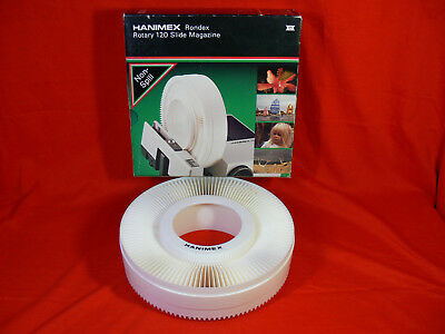 Hanimex RONDEX ROTARY 120 SLIDE MAGAZINE in Box VINTAGE SLIDE PROJECTOR CAROUSEL