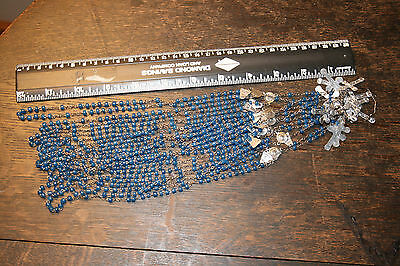 ROSARY BEADS * 11-PIECE LOT - B E A U T I F U L * BLUE -  - Check them out!!!!!!