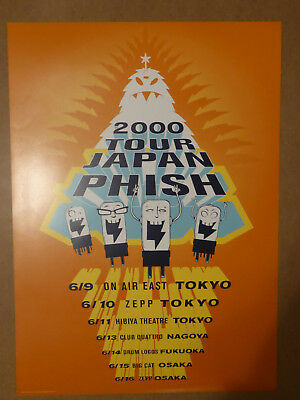 PHISH Poster Japan Tour 2000 L/E Print Sold out  Pollock