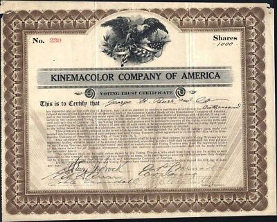 Kinemacolor Co Of America, 1912, Uncancelled Stock With Rough Top Edge Ends