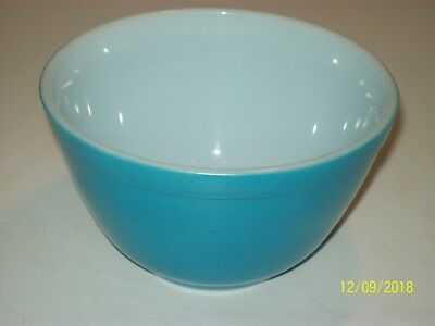 Vintage PYREX PRIMARY BLUE Small Nesting MIXING BOWL 1.5 Pint #401