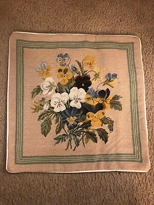 "NWT Needlepoint 16x16"" Throw Toss  Pillow Covers"