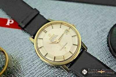 Serviced Vintage Omega Constellation Gold on Steel Cal 564 168.010 Pie Pan 1970s