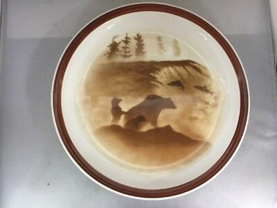 """Big Sky Alaska Dinner Plate 10 5/8""""  Lodge Stoneware Collection Thomas Norby"""