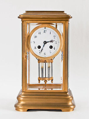 French large crystal regulator clock @ 1890 Excellent working J.E. Caldwell