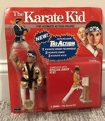 1986 Remco The Karate kid Action Figure Red Card DANIEL. With Acrylic Case.