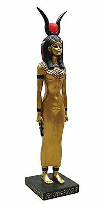 Egyptian Isis Statue with Golden Accents 8.75 Inches (1124) NEW