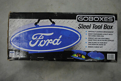 GOBOXES Ford Oval Steel Tool Box Powder Coated FORD LICENSED NIB
