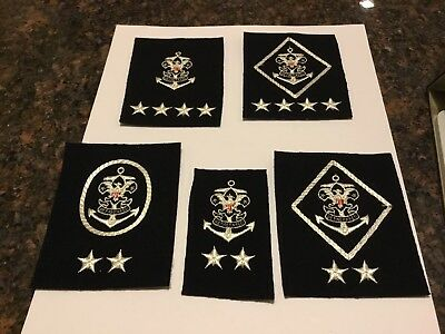 Rare Group Of Sea Scout Patches Felt