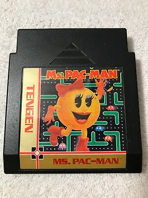 Ms. Pac-Man (Tengen) (Nintendo Entertainment System NES, 1990) Tested and Works