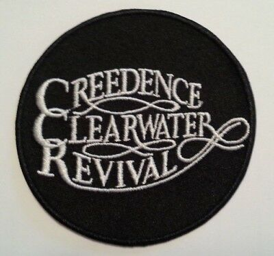 "Creedence Clearwater Revival~CCR~Rock~Embroidered PATCH~3"" Round~Iron or Sew On"