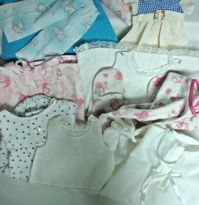 """LARGE Lot~Vintage DOLL CLOTHES~Variety 8"""" To 16"""" DOLLS~Coat Dress Sleeper Slips+"""