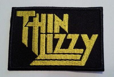 """Thin Lizzy~Irish Rock~Embroidered PATCH~3"""" x 2 1/8""""~Iron or Sew~Ships FREE"""