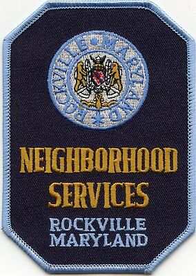 ROCKVILLE MARYLAND MD Neighborhood Services POLICE PATCH