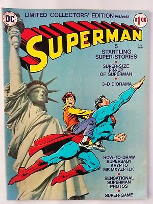 DC LIMITED COLLECTORS EDITION #C-38 VF- SUPERMAN 1975 Nice centerfold