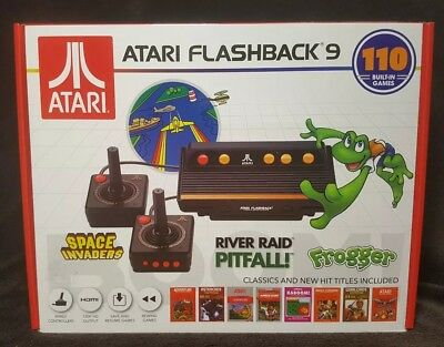 Atari Flashback 9 Console w/ 110 Built-In Games~ Classic & New Titles~New/Sealed