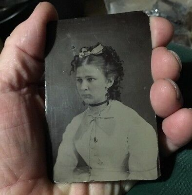 1890s antique tin type photograph Stokes Gold Beach, Oregon & Minnesota good loo
