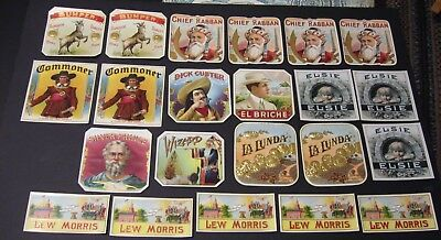 Lot of 22 Outer Cigar Labels Mint Never Used - Dealers Lot